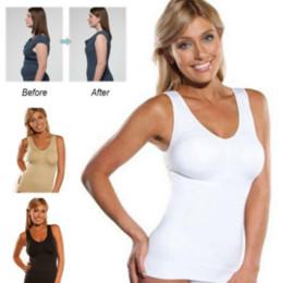 Wholesale Shapewear Tanks - Women's Body Shaper Genie Bra ShapeWear Tank Top Slimming Camisole Spandex