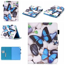 Wholesale Ipad Mini Case Dots - For iPad 8 Pro 9.7 5 6 air 1 2 Mini 4 5 Colorful Printing Kickstand Flip Cover Tablet Case For Galaxy T550 T580 OPP Bag