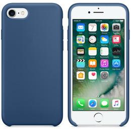 Wholesale Genuine Apple Accessories - genuine liquid silicone PU phone shell protective cover accessories new soft for iPhone 8 8plus 7 7plus 6 6S 6plus 6S plus