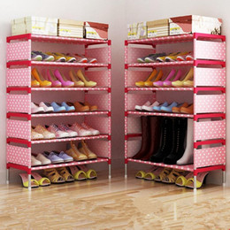 Wholesale Nonwoven Shoe Cabinet Bedroom Shoes Organizer Shoes Shelf Holder Shoe Rack Home Furniture DIY Shoe Shelf OOA2475