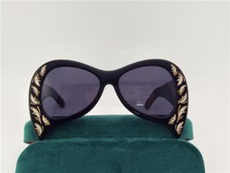 Wholesale Butterflies Print - The latest women sunglasses special design exquisite print frame fashion avant-garde style top quality UV protection eyewear with box 0143
