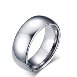 Wholesale Simple Rings For Girls - Delicate Hot Sales Sizes 7 8 9 10 11 12# Simple Classic Simple Smooth Rings Silver Plated Tungsten Steel Carbide Ring for Male Girl Jewelry