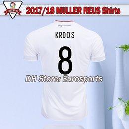 Wholesale Germany Wear - 2017 Germany OZIL MULLER GOTZE HUMMELS KROOS BOATENG REUS Soccer Wear jerseys 2018 thai quality soccer jersey uniform 2018 football shirts