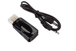 1080P HDMI Macho a VGA Conector Hembra Convertidor Adaptador con 3.5 MM Jack Audio Cable de Sonido para HDTV TV DVD Xbox 360 Tablet Portátil 50 unids desde fabricantes