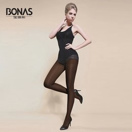 Wholesale Bonas Pantyhose - Wholesale- 2016 BONAS Free Shipping Women Tight 80D Anti Hook Wire Plus Size Plus Crotch Pantys Y Medias Mujer Summer Autumn Warm Pantyhose