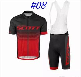 Wholesale Scott Team Red Cycling - 2017 Scott bank Team cycling jersey short sleeve Ropa Ciclismo bicicletas maillot ciclismo