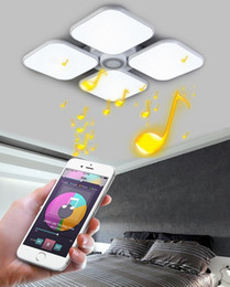 Wholesale Dimmable 72w - LED ceiling light 72W bluetooth APP Music play wireless dimmable RGB ceiling light multi-function surface mounted light fashion furnitureLLF