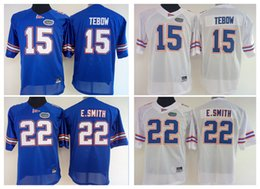 Wholesale College Style Women - Womens 15 Tim Tebow Women 22 E.Smith College Florida Gators Football Throwback Jerseys 2016-2017 New Style Stitched Jersey