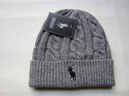 polo sports Promo Codes - Good Selling 2018 Hot Knit polo golf Beanie Sport Knit Pom Pom Knit Hats Baseball Football Sports Beanies Hat Mix Match Order All Caps