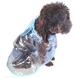 Wholesale Green Rainwear - Waterproof Small Pet Dog Raincoats Jacket Hooded Pet reain Coat Clothing Transparent Pet Dog Rainwear Dog Rainwear Size XS S M L XL