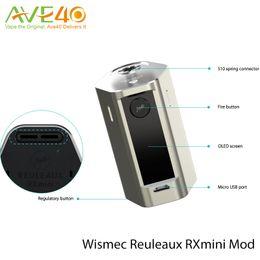 Wholesale Max Building - Wismec RXMini Box Mod fit Reux Mini Tank Max 80w Out Use Build in 2100mAh Battery 100% Authenic