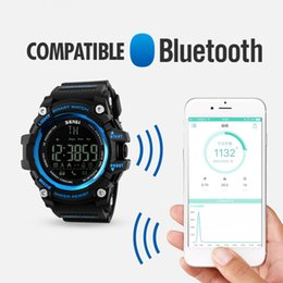 Wholesale Digital Counter Remote - SKMEI Men Smart Watch Pedometer Calories Counter Fashion Digital watch Chronograph LED Display Watch Outdoor Sports Watches