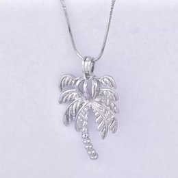Wholesale Diy Coconut Tree - new arrived coconut tree Pearl Cage Pendants Oyster Lockets For DIY Wish Love Pearl Pendant Necklace Jewelry Good Gift