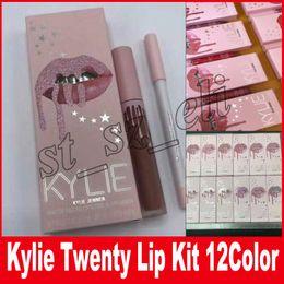 Wholesale I Baby - Kylie Jenner i want it all Lip Gloss lip Kit & Lipliner liquid lipstick matte Twenty One wish Augest Bug Baby Girl 12 Colors