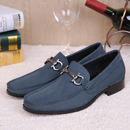 Wholesale New Oxford Mens Shoes - New Fashion Italy Men Oxford Shoes Genuine Leather Wedding Dress Shoes Flats Slip On Espadrilles Creepers Brand Mens Moccasins