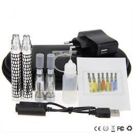 Wholesale Ego K Double Kit - CE4 ego K double kits ego k ce4 large kits ce4 clearomizer ego k ego king rechargeable battery usb zipper case large kits