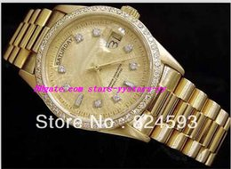 Wholesale Mens 18k Watch Diamond - AAAA Luxury Mens Stainless Steel Bracelet 18k Gold Diamond Automatic Fashion Brand High Quality Men's Watches