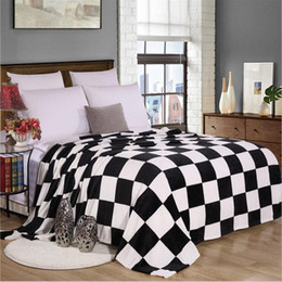 Wholesale Black White Tiger Bedding - TO ON FOR BED BLACK WHITE PLAID FLUFFY MINK THROW BLANKETS twin full queen size tiger CHILD panda chinese BLANKET