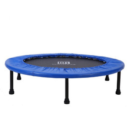 Wholesale trampoline jumping - Trampolines Not Folded Bouncing Bed Jumping Beds Household Fitness Equipment 40 Inches Red Blue Yellow Intersting 130 mk