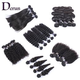 Wholesale Natural Weave Styles - Wholesale Bundles Deal 6 Different Styles Brazilian Indian Malaysian Peruvian 9pcs 18pcs 30pcs Natural Black Fast Free Shipping!!!