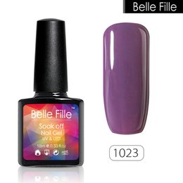 Wholesale One Step Gel Led - Wholesale- 10ml 237 Pure Color Bling UV Led Lamp Nail Gel Polish Gelpolish Soak Off Nail Art One Step Gel Lak Nail Polish Esmalte Nagellak