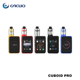 Wholesale Joyetech Electronic Cigarette Mods - Authentic Joyetech Cuboid PRO With 4ml ProCore Aries Kit 200W Max Output Touch Screen Mod Power by Dual 18650 Battery Electronic Cigarette
