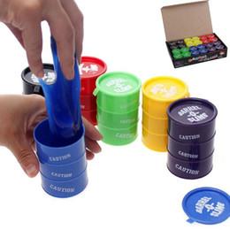 Wholesale Multicolor Oil Paintings - New Creative Paint Oil Slime Toy Barrel O Slime Prank Trick Joke Gag Oil Drum Paint Bucket Gag Slime Play Joke Toys