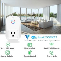 Wholesale Home Works - Smart Wifi Power Plug Smart Home Electronic Socket Automation works with Household Electrical Phone Remote CE ROHS FCC Support Alexa