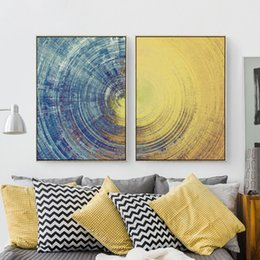 Wholesale Texture Canvas Art - Sun and Moon Earth Texture Canvas Mural Paper No Frame Abstract Nordic Art Picture Adorable Living Room Cafe Office Wall Drawing