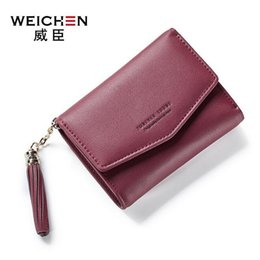 Wholesale Green Screen Photos - sales handbag Candy color leather mini wallet cute tassels quality leather wallet brand More creative screens short change purse