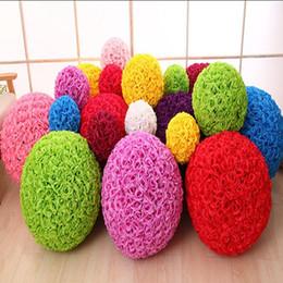 Wholesale Artificial Pomander Flowers - Kissing Balls 6~24 Inch(15~60CM) Wedding Silk Pomander Flower Ball Artificial Encryption Styles for Wedding Home Decoration