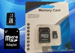 Wholesale Gb Memory Card Wholesale - 16GB Micro SD TF Memory Card Class 10 With Adapter 8 gb Class 10 TF Memory Cards with Free SD Adapter Retail Package DHL EMS UPS