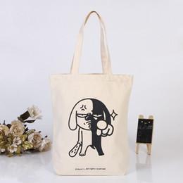 оптовая продажа персонализированного холста Скидка Оптовая продажа 300 шт. / лот 20x22hcm хлопок холст сумки складная многоразовые продуктовые сумки эко сумка пользовательские печати логотип