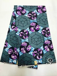 Wholesale Wholes Sales Dresses - latest African Fabric,blue Printed Cotton Fabric African Wax Cloth for fashion dress 6yards whole sale NRM05