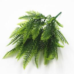 Wholesale Plastic Flower Arrangements - Persian fern plastic flower simulation fern green plant flower arrangement mold simulation grass Persian fern household items