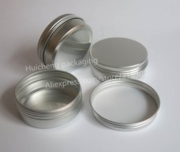 Wholesale Glass Powder Container - 100 x 60g aluminum jar, metal jar for cream powder gel use, 2 oz cosmetic bottles, 60ml aluminum container