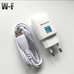 Wholesale European Travel Usb - Wholesale- Blackview BV6000 Travel Charger+80CM Micro Usb Cable Original 5V 2A European Battery Charger Replacement for Blackview BV6000S