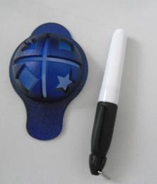 Herramientas de marcado de pelota de golf online-Juego de herramientas para marcas de trazadores de líneas de marcador de pelota de golf Marcador Scriber Circular Tipo Juego de herramientas Accesorios fáciles de transportar 2 5cx H
