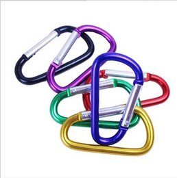 Wholesale Metal Carabiners - Carabiner Ring Keyrings Key Chains Outdoor Sports Camp Snap Clip Hook Keychain Hiking Aluminum Metal Convenient Hiking Camping Clip On