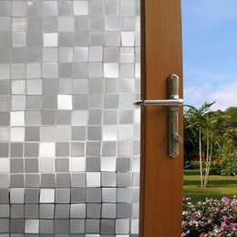 Wholesale Toilet Window - 7 Styles funlife printing glass window films Window Stickers Without glue for bathroom toilet and office glass Decorative Stickers