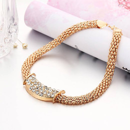 Wholesale Titanium Alloy Buy - New Jewelry Set Hot Deal Gold Necklace Gold Earrings Bracelet Ring Fashion Elegant Lady Accessories Buy 1 Free Shipping