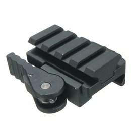 Wholesale Compact Aluminum - Aluminum Compact Tactical QD Quick Release Mount Adapter 5 Slots Fit 20mm Picatinny Weaver Rail Base Hunting Accessories