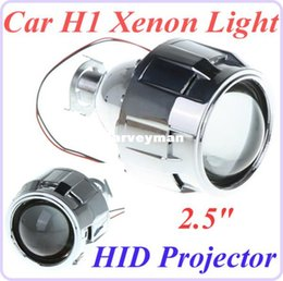 Wholesale Projector Shrouds - 2.5 inch Mini Car Xenon H1 HID Projector Lens with Shroud for Car Headlight Xenon H1 Light