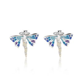 Wholesale Fairy Earrings Studs - Wuji Bijoux Design Beautiful Angel Stud Earrings Ladies Trendy ImitatioDiamonds Fly Wings Fairy Stud Earring Fashion Jewelry Ear Accessories