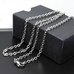 2019 schmuck endet Silberne Kette 2.4mm O-Ketten-Halskette 316L Edelstahl-Ketten-passende DIY hängende Halsketten-Weihnachtsgeschenk