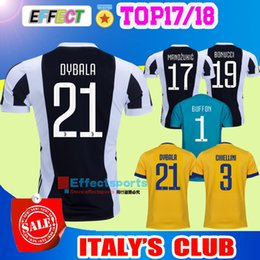 Wholesale 2017 New Italy Club soccer jersey home away Yellow Blue DYBALA MORATA MARCHISIO MANDZUKIC DANI ALVES Serie A football shirt