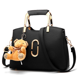 Wholesale Media Bear - New Handbags Freee Bear Accessories Women Bags Fashion Designer Leather Fashion Shoulder Bag Girl Crossbody Bags Ladies Tote Bag