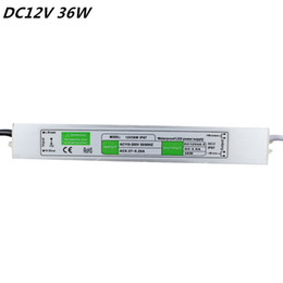 Wholesale 36w 12v Led Power Supply - DC 12V 36W Waterproof IP67 Electronic LED Driver outdoor use power supply adapterled strip lighting transformers free shipping