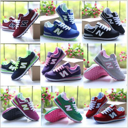 Wholesale Shoes Color Red - 2017 new spring Autumn Unisex Zapatos New Casual Balanced women's Dropship Fashion shoes Size 36-40 Multi-Color