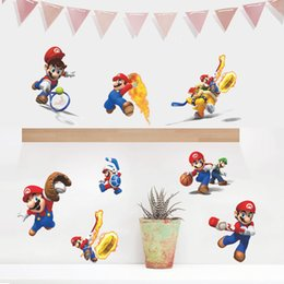 Wholesale Nursery Decals For Boys - Super Mario bros Boy Room Kids Room Nursery Art Decal Mural Wall Sticker Decor free shipping